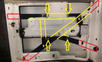Крепление запаски на заднюю дверь, Экспресс Савана любого поколения - калитка1.jpg